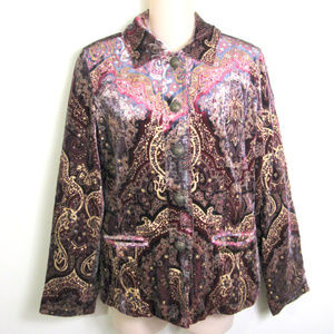 Chico's Size 0 Paisley Button Top Womens